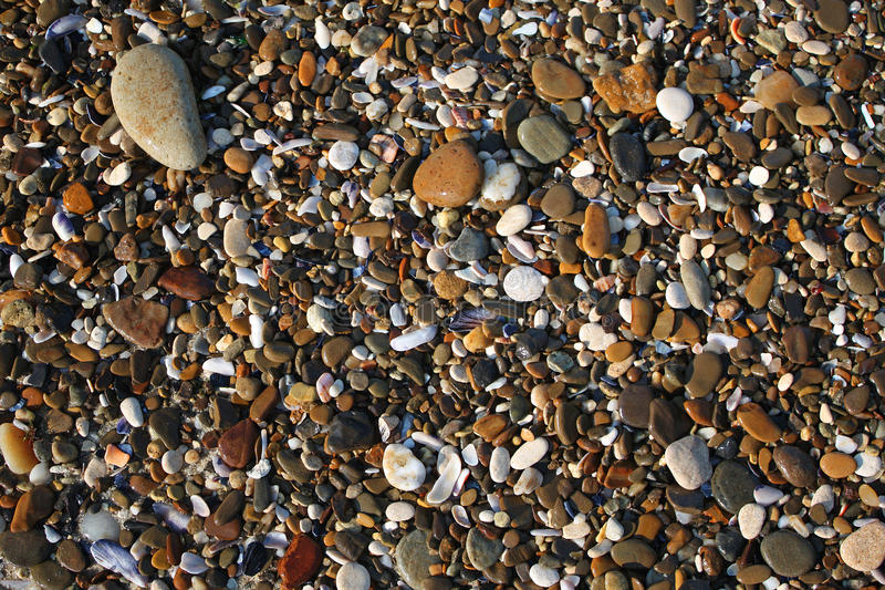Wet sea stones. stock photography