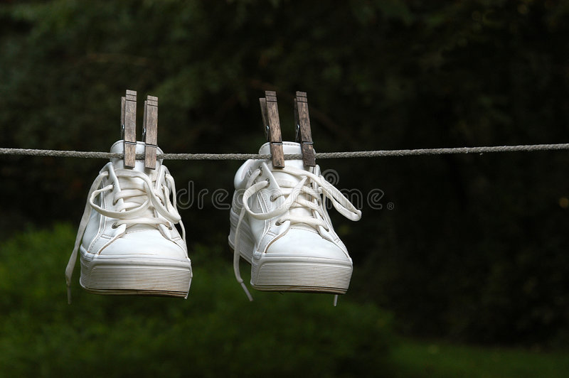 Wet Sneakers stock image