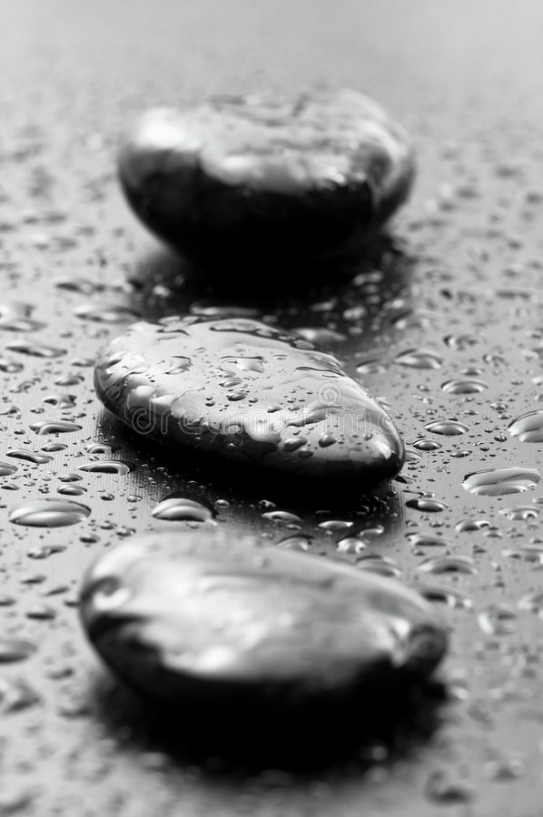 Wet Spa Stones Royalty Free Stock Images
