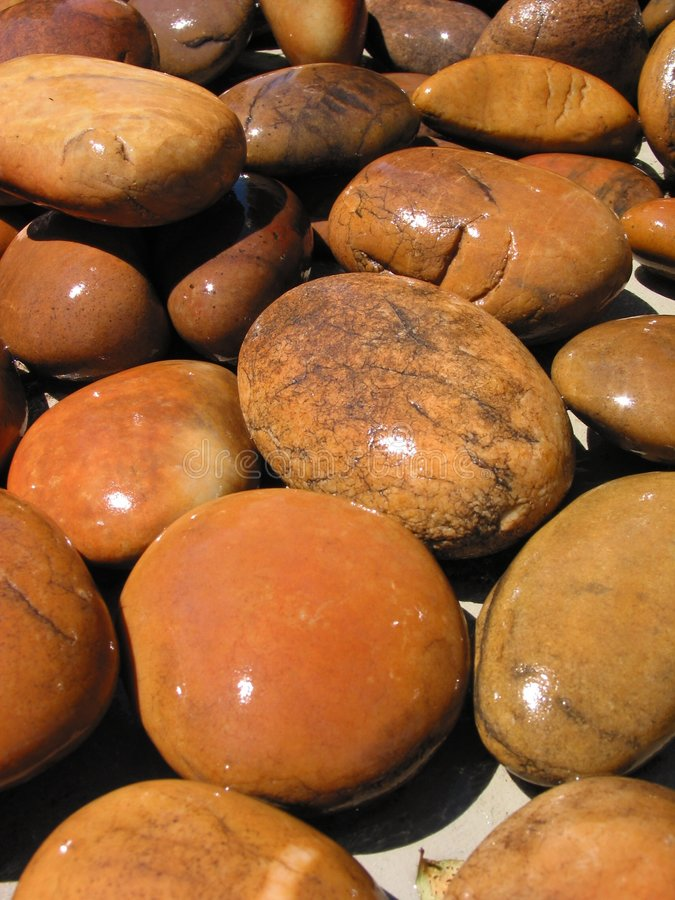 Download Wet Stones - 1 stock image. Image of summer, round, rocks - 9843