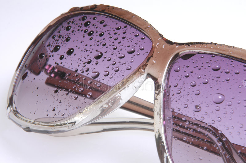Download Wet sunglasses III stock photo. Image of mauve, protected - 168216