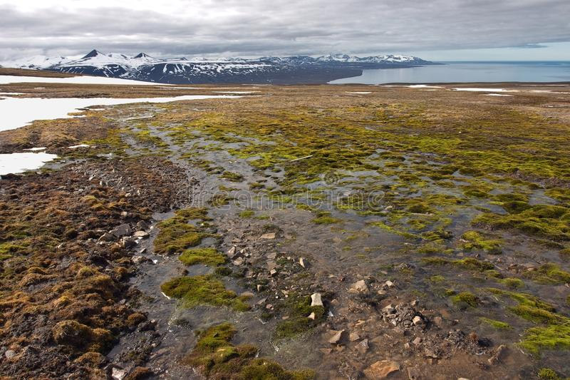 Download Wet surface on Svalbard stock photo. Image of travel - 25070142