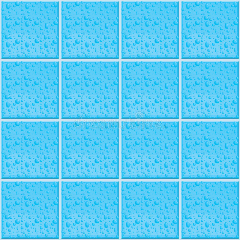 Download Wet Tile Pattern stock vector. Image of bathroom, vector - 1726487