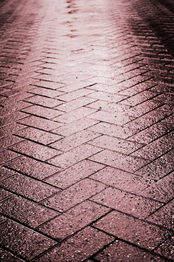 Free Wet Tile Stone Way Stock Photo - 24076110