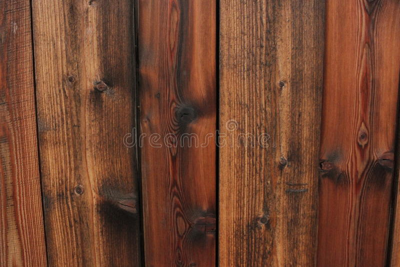 Wet wall of wooden planks royalty free stock images
