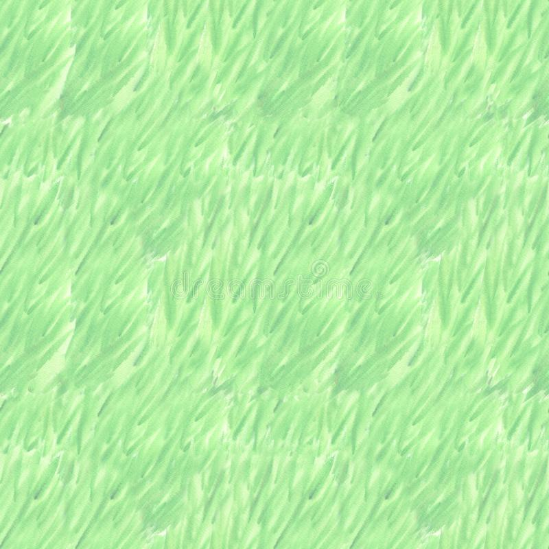 Wet watercolor green seamless pattern with color blurred stripes. Repeat straight stripes texture background. Hand. Drawing grass pattern royalty free stock image