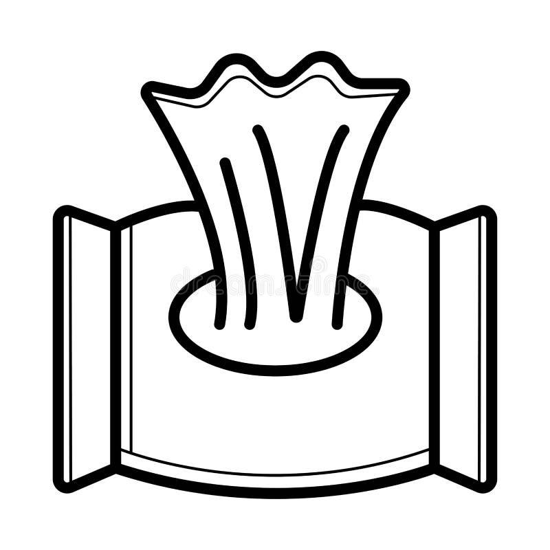 Wet wipes stock illustration