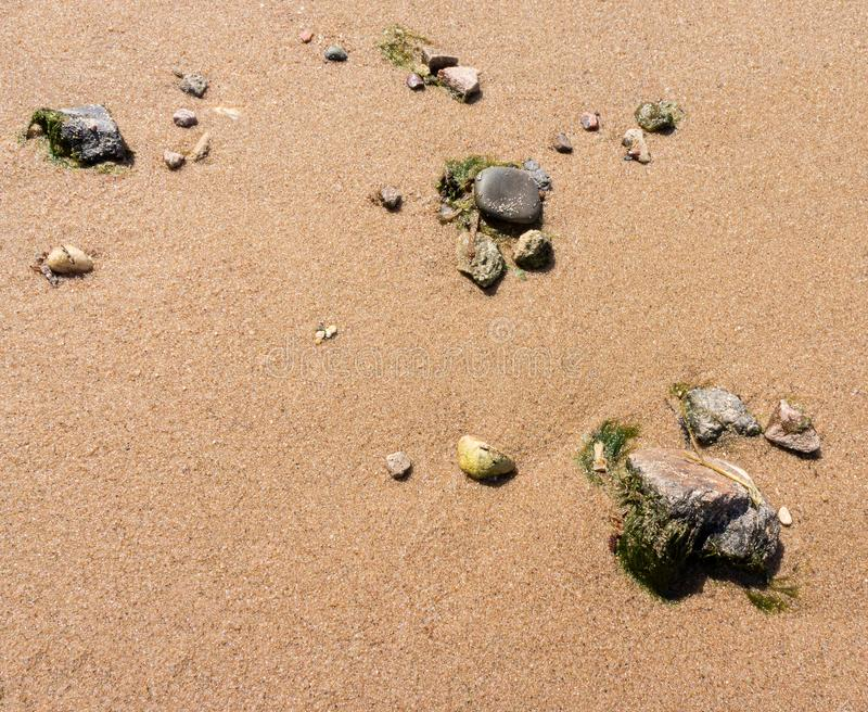 Sand and stones background stock photo