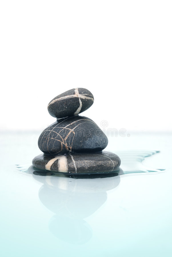 .wet zen stones royalty free stock photos