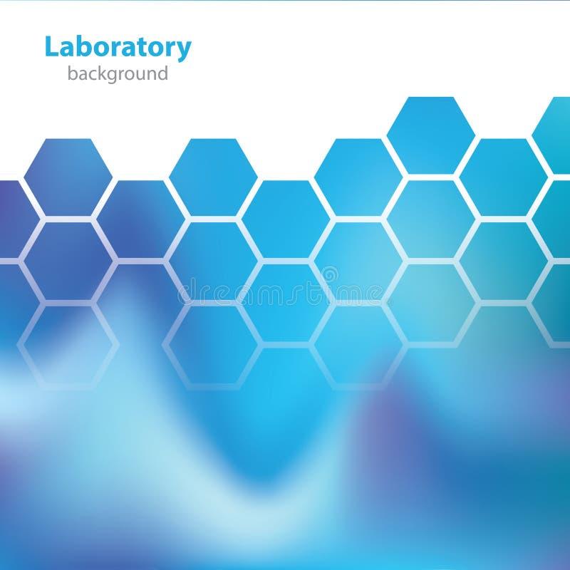 Wetenschap en Onderzoek - laboratorium blauwe achtergrond - royalty-vrije illustratie