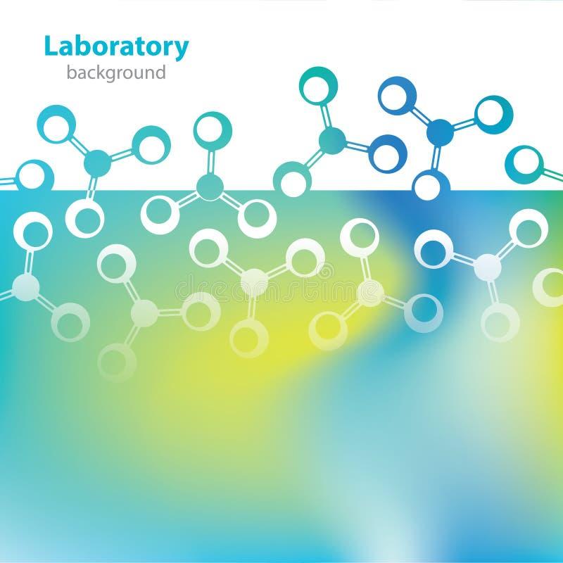 Wetenschap en onderzoek - moleculaire structuur stock illustratie
