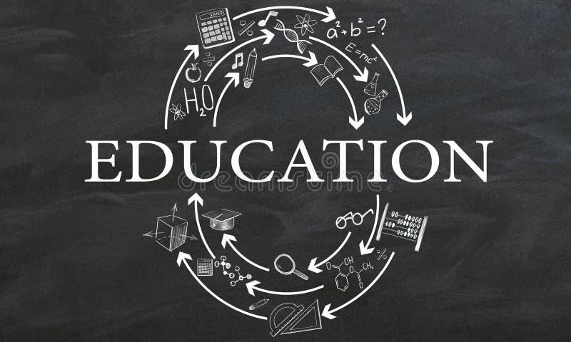 Wetenschap en schoolconcept vector illustratie