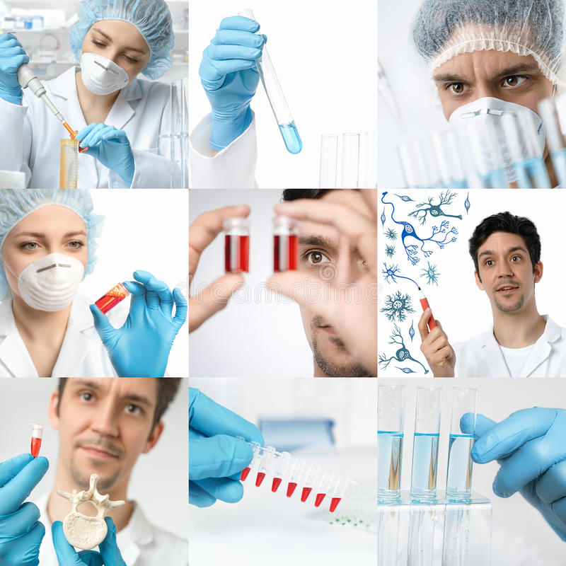 Wetenschap en technologie, reeks van de aanpassing van beelden royalty-vrije stock afbeelding