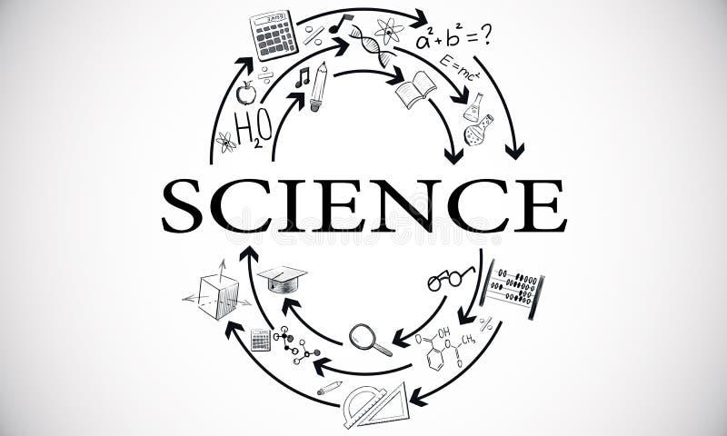 Wetenschap en universiteitsconcept royalty-vrije illustratie