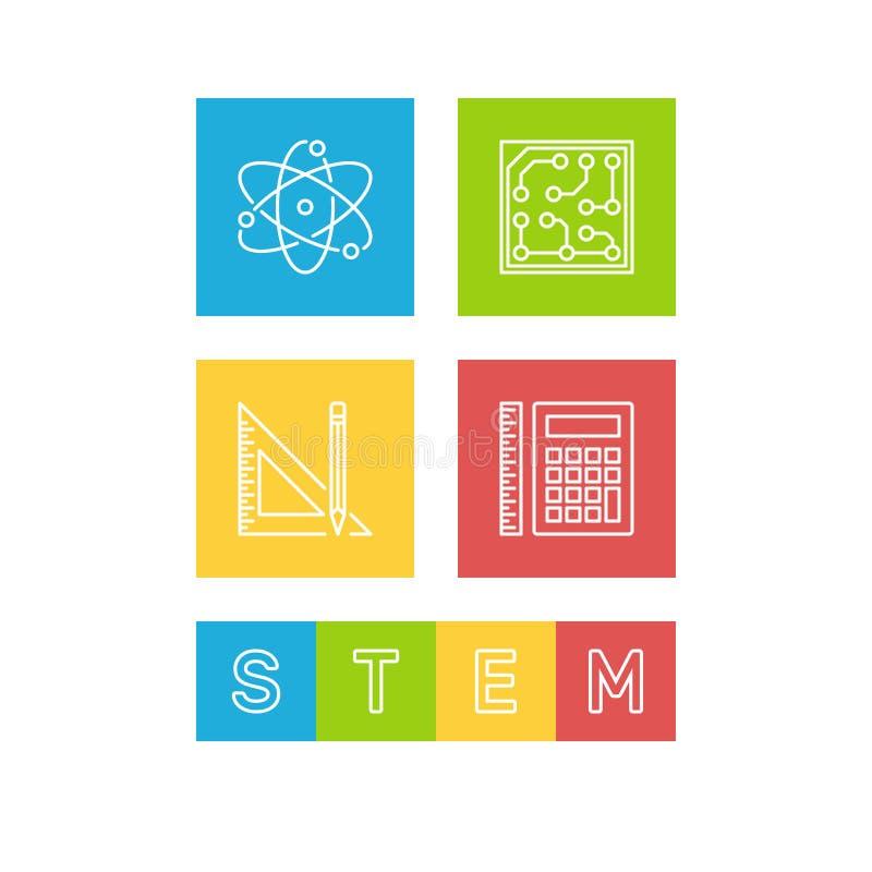 Wetenschap, Technologie, Techniek en Wiskunde - STAMillustratie vector illustratie