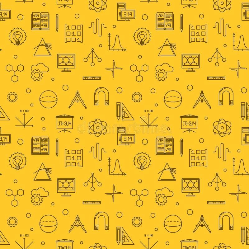 Wetenschap, Technologie, Techniek en Wiskundepatroon stock illustratie