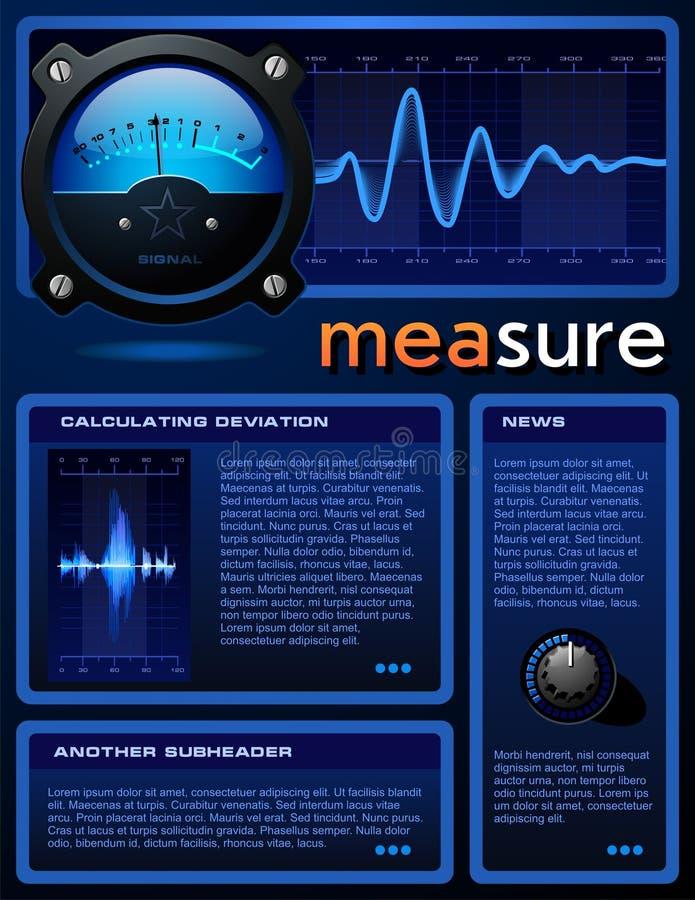 Wetenschap-Themed brochure vector illustratie