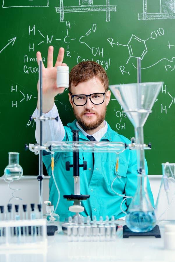 Wetenschap van chemie stock foto's