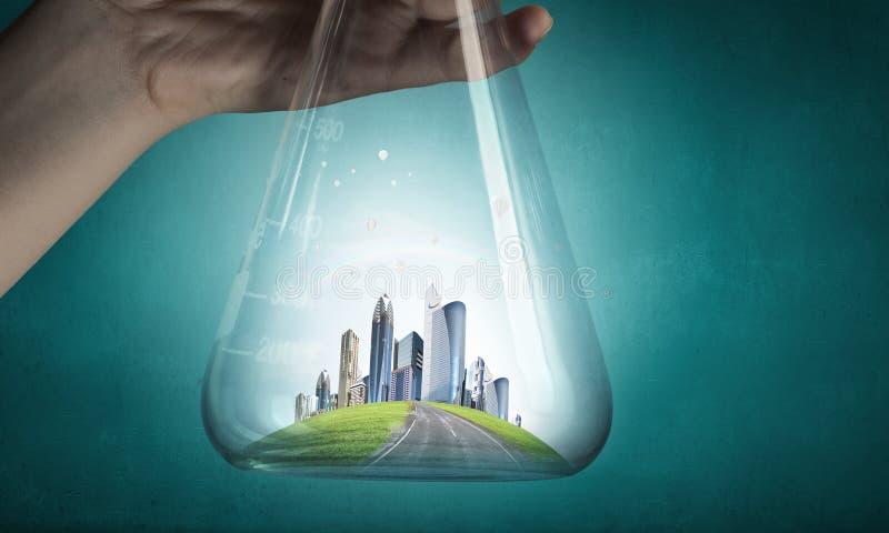 Wetenschap voor het groene gezonde leven stock fotografie