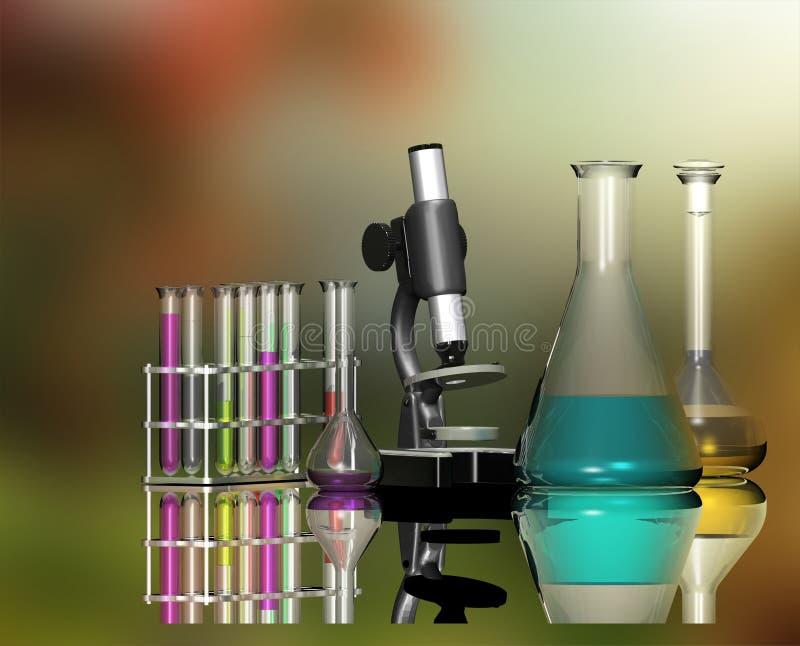 Wetenschappelijke apparaten stock illustratie
