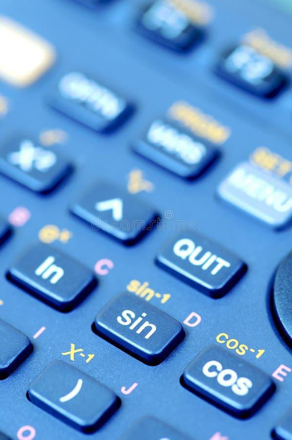 Wetenschappelijke calculator stock afbeelding