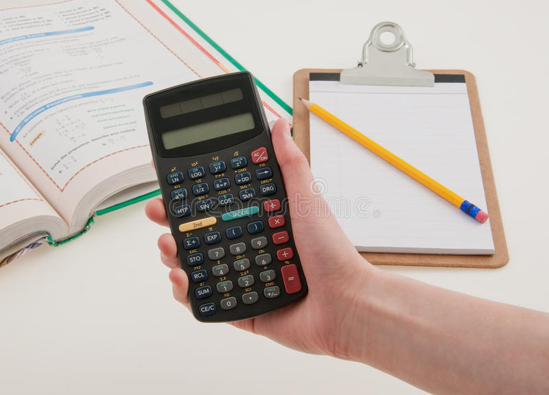 Wetenschappelijke Calculator voor School royalty-vrije stock afbeeldingen