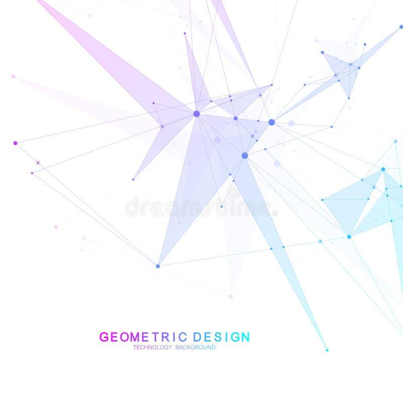 Wetenschappelijke moleculeachtergrond voor geneeskunde, wetenschap, technologie, chemie Behang of banner met een DNA-molecules vector illustratie