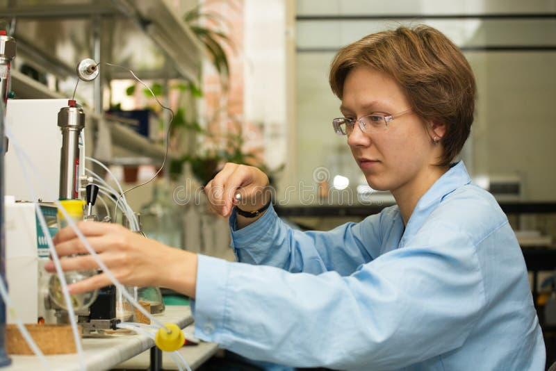 Wetenschapper, laboratorium 3 royalty-vrije stock fotografie