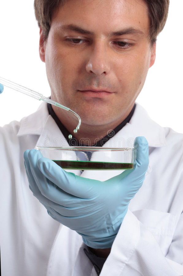 Wetenschapper of onderzoeker in laboratorium royalty-vrije stock fotografie