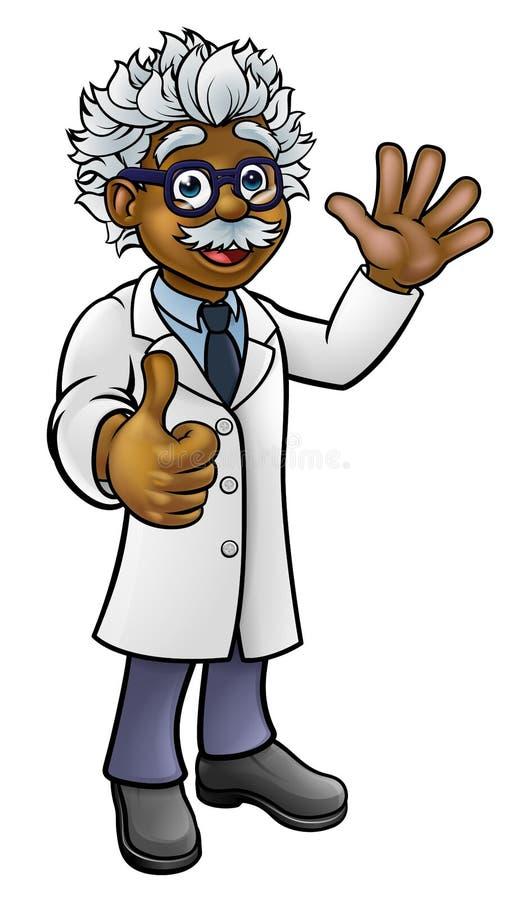 Wetenschapper Professor Cartoon Character royalty-vrije illustratie