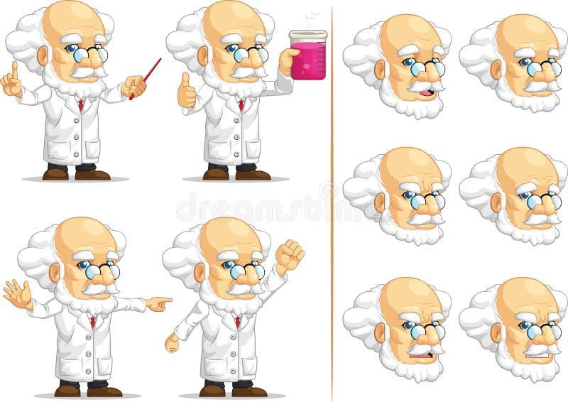 Wetenschapper of Professor Customizable Mascot 11 stock illustratie