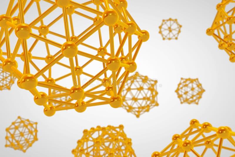 Wetenschaps Abstracte Molecules het 3d teruggeven stock illustratie