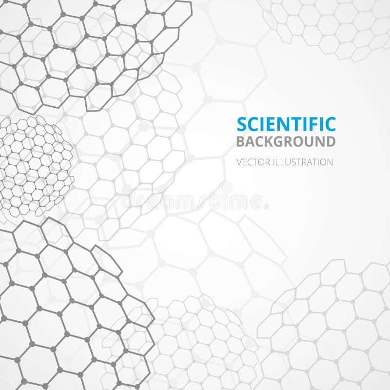 Wetenschaps achtergrondmalplaatjedruk vector illustratie