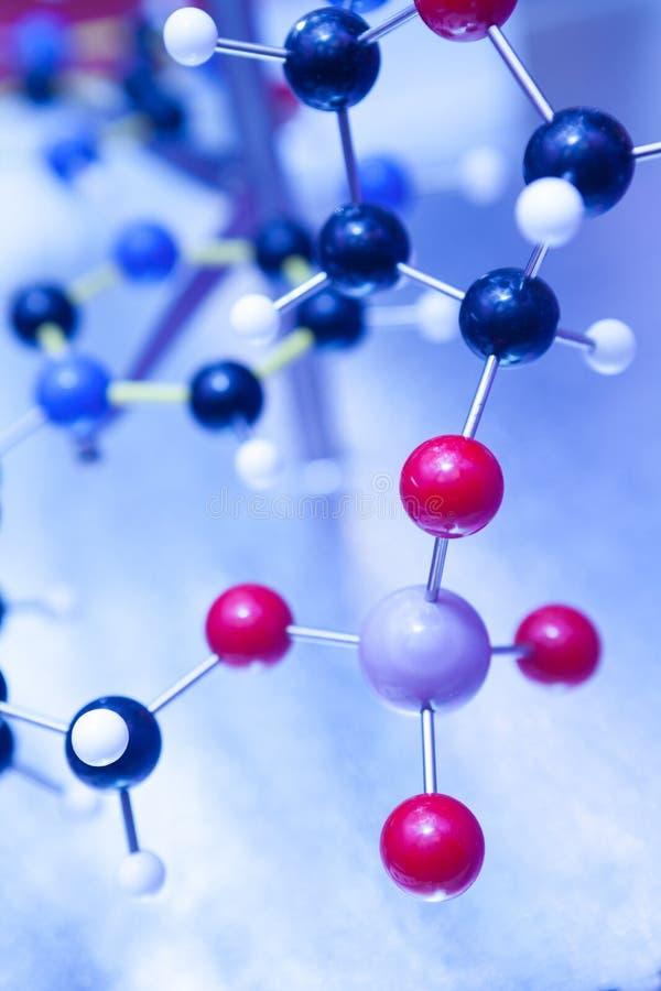 Wetenschaps Moleculaire DNA ModelStructure, bedrijfsconcept stock fotografie
