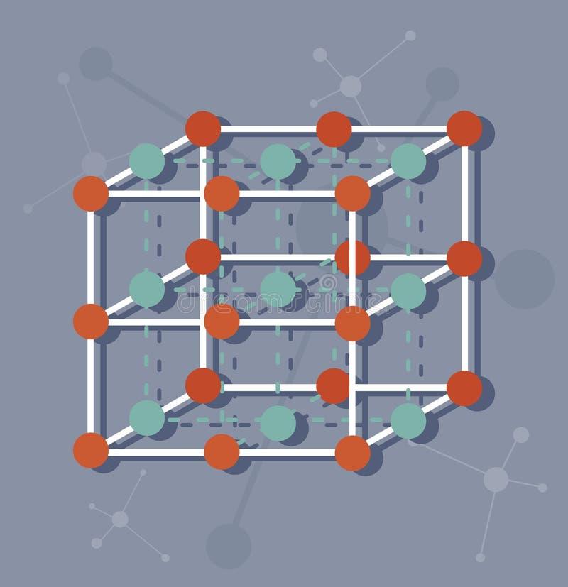 Wetenschaps moleculaire structuur stock illustratie
