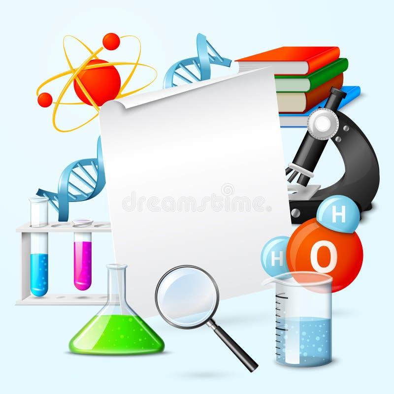 Wetenschaps realistisch kader stock illustratie