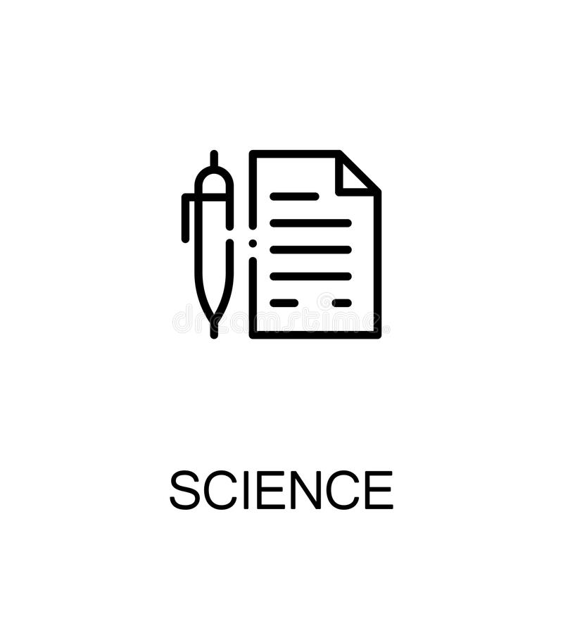 Wetenschaps vlak pictogram stock illustratie