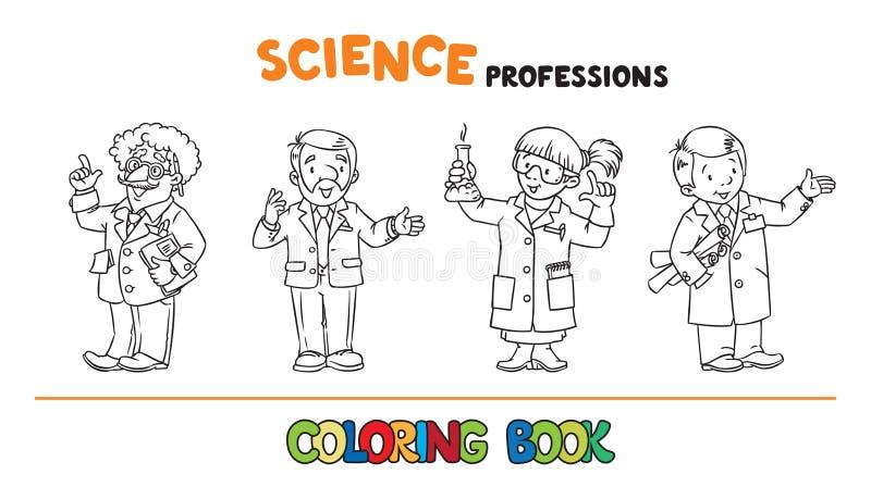 Wetenschapsberoepen die boekreeks kleuren royalty-vrije illustratie