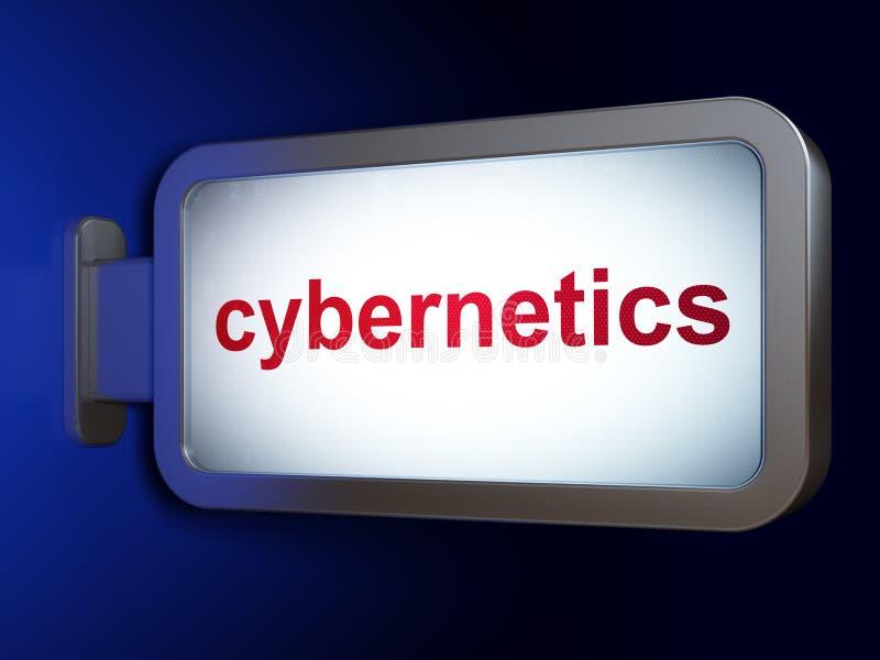 Wetenschapsconcept: Cybernetica op aanplakbordachtergrond royalty-vrije illustratie