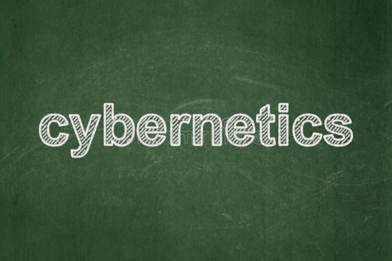 Wetenschapsconcept: Cybernetica op bordachtergrond vector illustratie