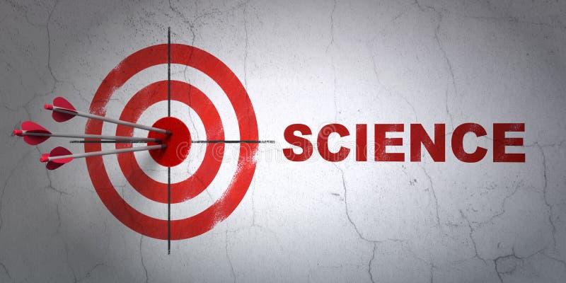 Wetenschapsconcept: doel en Wetenschap op muurachtergrond stock illustratie