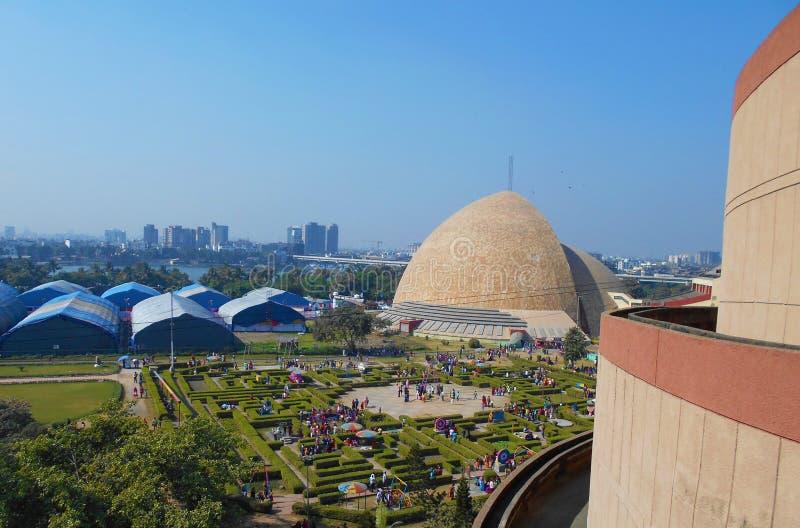 Wetenschapsstad bij Zout meer, Kolkata, India royalty-vrije stock fotografie