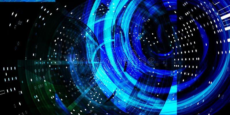 Wetenschapstechnologie het Samenvoegen stock illustratie