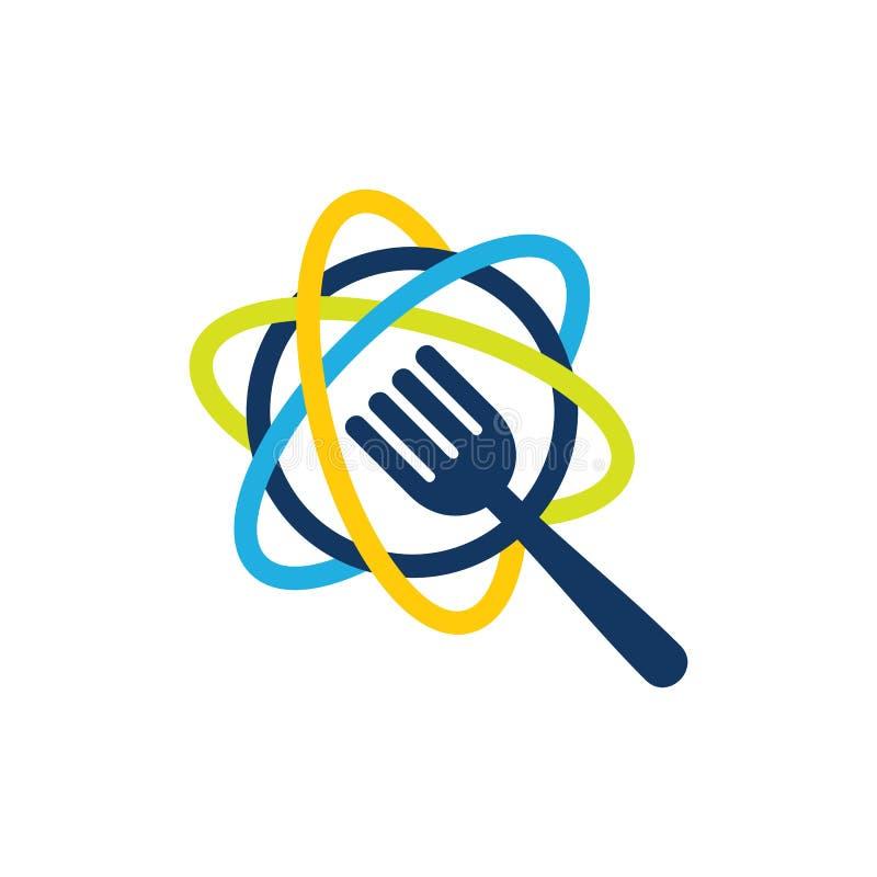 Wetenschapsvoedsel Logo Icon Design royalty-vrije illustratie
