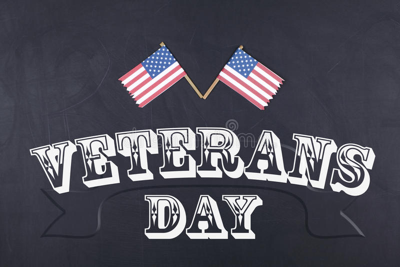 Weteran flaga amerykańska i dzień zdjęcie royalty free