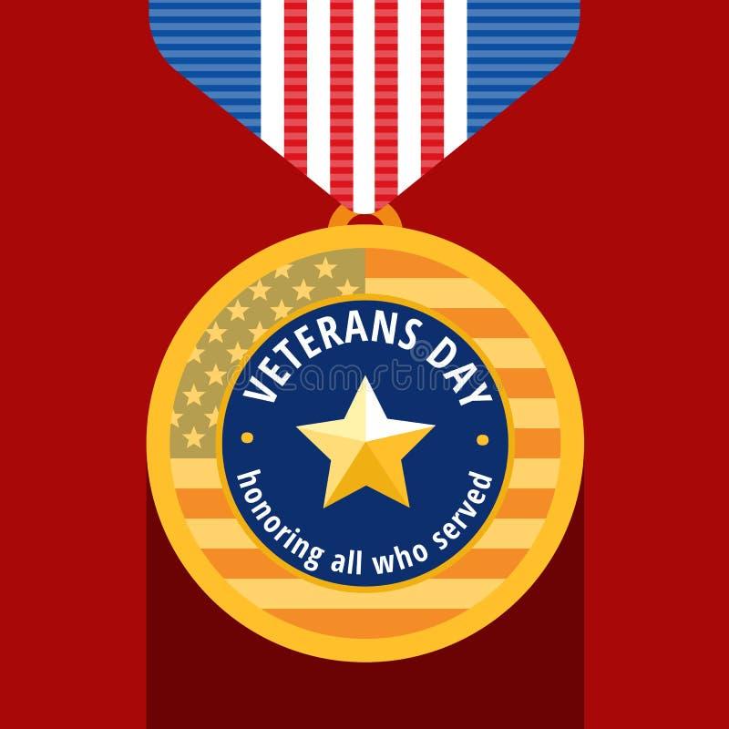 Weterana dnia mieszkania medal royalty ilustracja