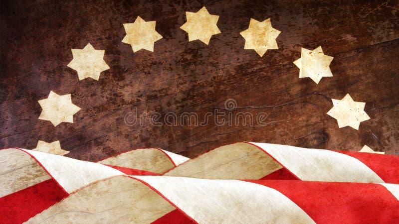 Weterana dzień usa bandery zdjęcia royalty free