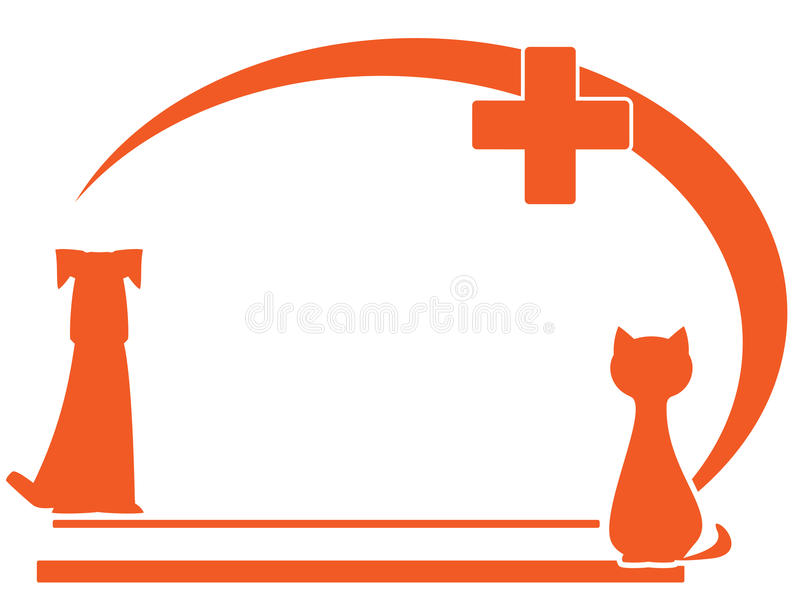 Weterynaryjny symbol z miejscem dla teksta ilustracja wektor