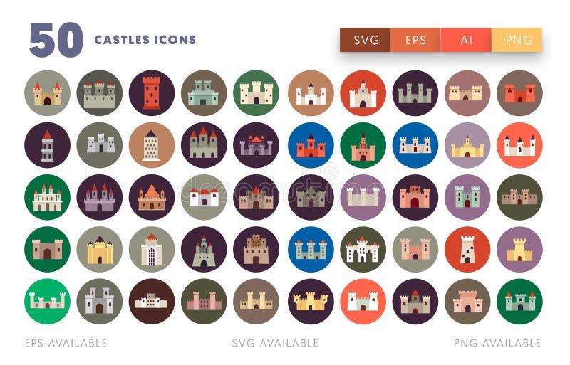 50 Weterynaryjnych ikon royalty ilustracja