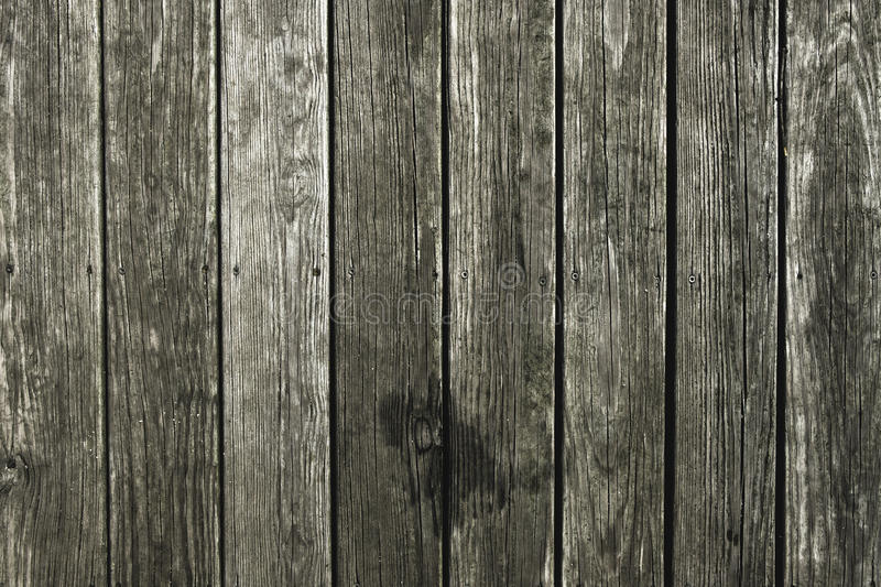 Wethered wood knotty pine decking stock images